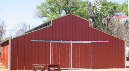 Psr barns buildings dog kennels for Red barn dog kennel